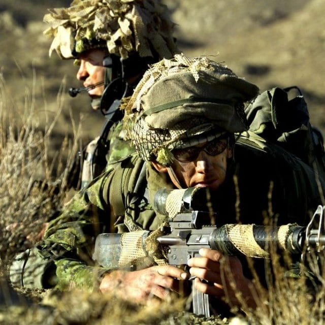 Two Army Man On Position Of Fire Wallpapers E1601651346554